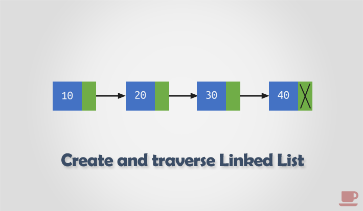 Create and traverse Linked List in C
